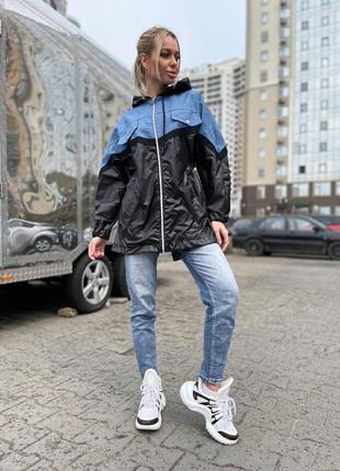 Стильная ветровка плащевка аляска джинс разные цвета