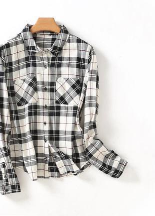 Женская рубашка клетка forever 21