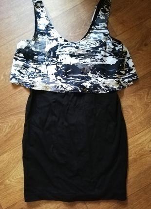 Платье сарафан женское next без рукав милитари короткое