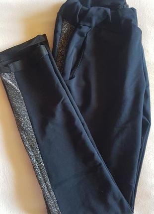 Брюки, штаны с лампасами люрекс