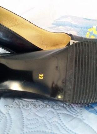 Туфли кожанные 39 размер6 фото