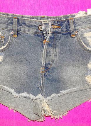 Шорты джинсовые pull&bear . рваные шорты .