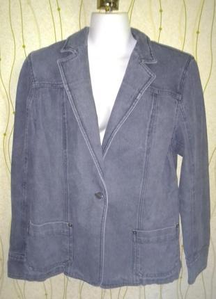 Джинсовый жакет пиджак max mara джинсовка