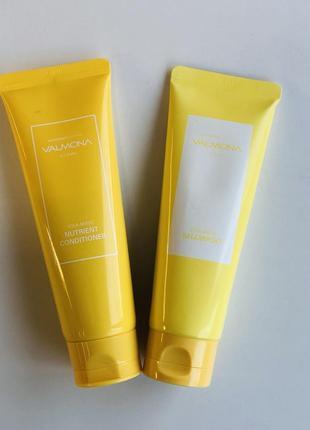 Набір для волосся шампунь + кондиціонер valmona nourishing solution yolk-mayo