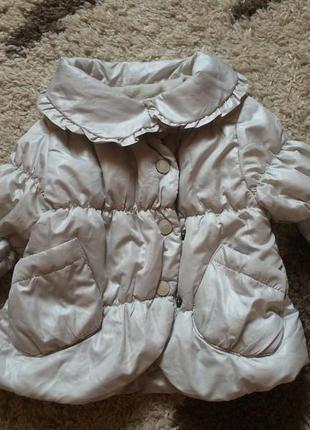 Теплая зимняя куртка на девочку 6-9