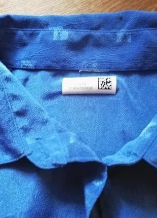 Рубашка блузка блуза кофта женская винтажная голубая длинный рукав2 фото