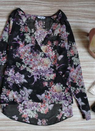 Актуальная шифоновая блузка с запахом №159  new look