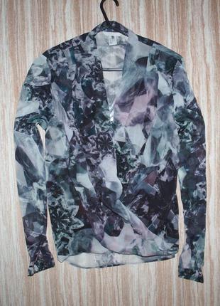 Актуальная шифоновая блузка с запахом №160  h&m