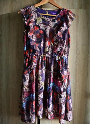 Красивое шифоновое платье от marks&spencer