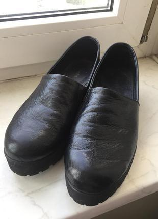Кожаные туфли-ботинки sharman