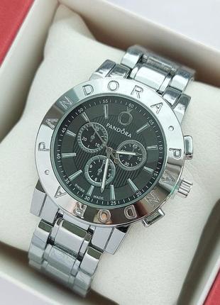 Женские наручные часы под серебро с черным циферблатом, очень хорошее качество
