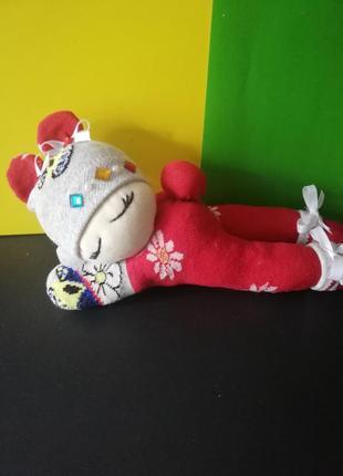 Интерьерная кукла спящий пупс из капрона ручная работа