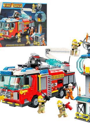 Конструктор пожарная машинка qman 2809q