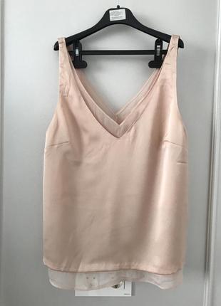 Шикарная пудровая блуза m/l h&m швеция 🇸🇪