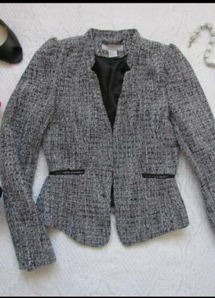 Пиджак h&m  серы1