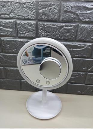 Косметическое зеркало для макияжа с подсветкой и вентилятором beauty breeze mirror
