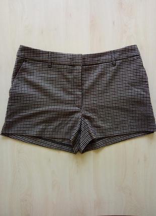 Стильные шорты теплые в клетку от h&m размер указан 12 40 l