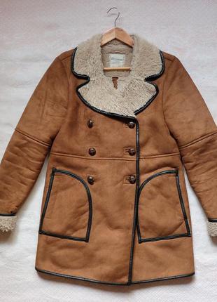 Пальто дублёнка pull & bear