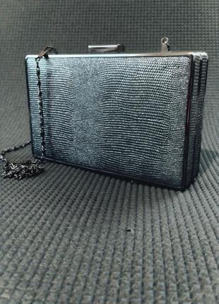 Клатч коробка, клатч бокс, вечерняя сумочка серебро, малкнькая сумка1 фото