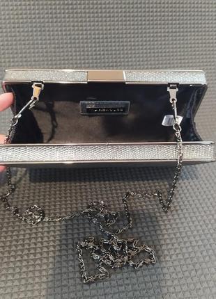 Клатч коробка, клатч бокс, вечерняя сумочка серебро, малкнькая сумка6 фото