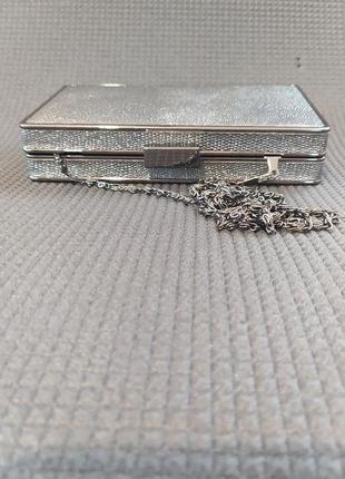 Клатч коробка, клатч бокс, вечерняя сумочка серебро, малкнькая сумка4 фото