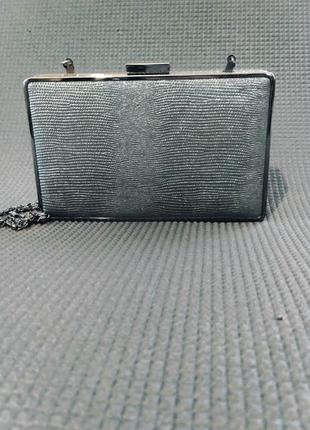 Клатч коробка, клатч бокс, вечерняя сумочка серебро, малкнькая сумка2 фото