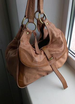Кожаная сумка topshop