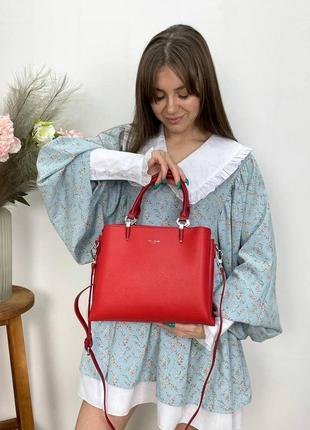 Женская сумка эко-кожа david jones красная