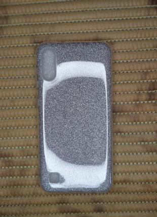 Samsung a10 серебристый чехол