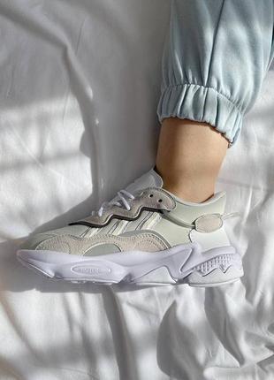 Женские кроссовки с мягкой подошвой ozweego white grey