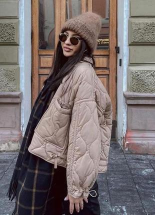 Must have 2021 куртка стеганая zara original spain