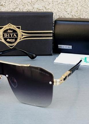 Dita очки маска унисекс солнцезащитные черные с золотом
