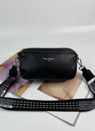 Женская сумка через плечо velina fabbiano с текстильным ремешком жіноча сумочка