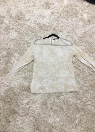 Zara прозора кофта блуза
