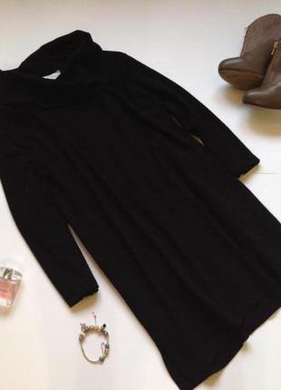 Черное теплое трикотажное платье туника свободного кроя! смотрите мои объявления!