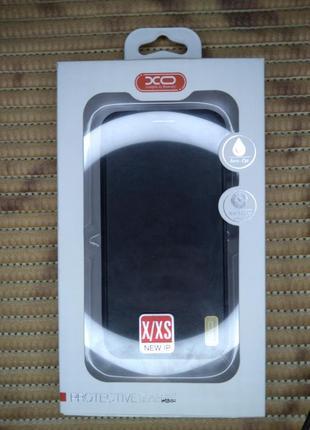Кожаный чехол-книжка xo  для apple iphone x / xs  .