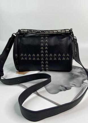 Женская кожаная сумка на и через плечо polina & eiterou жіноча шкіряна сумочка