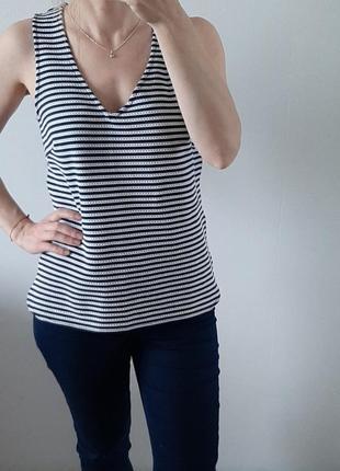 Next блуза весна/лето синяя в полоску