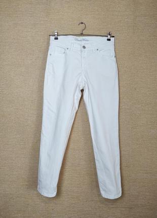 Белые брюки штаны джинсы внизу молнии