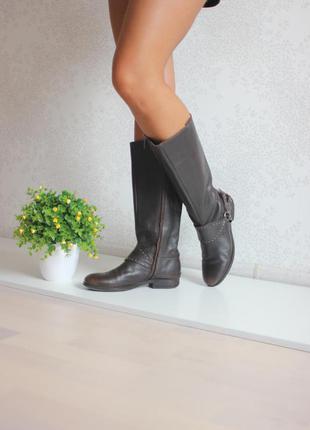 Кожаные сапоги, натуральная кожа, бренд geox оригинал