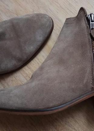 Замша/кожа/minelli италия,оригинал ботинки,сапоги 39р/25-25,5см