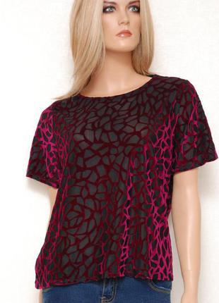 Красивая футболка в бархатный принт dorothy perkins 16uk