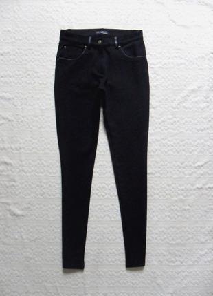Стильные черные штаны скинни zara, 26 размер .