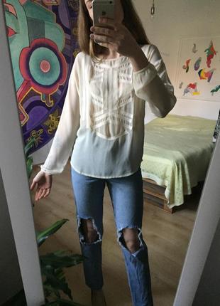Шифоновая блуза с вышивкой