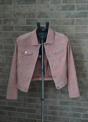 Куртка из натурального замша stradivarius