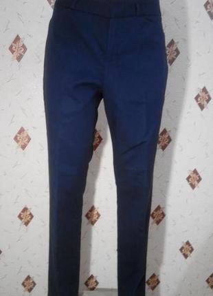 Классические брюки  с высокой посадкой dkny коттон