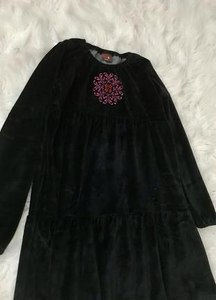 Стильное велюровое платье s/m me&i португалия 🇵🇹3 фото