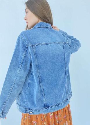 Джинсова куртка оверсайз новинка 20218 фото