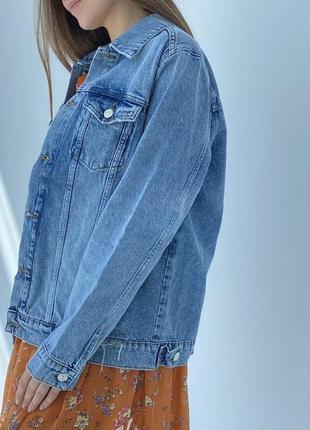 Джинсова куртка оверсайз новинка 20213 фото