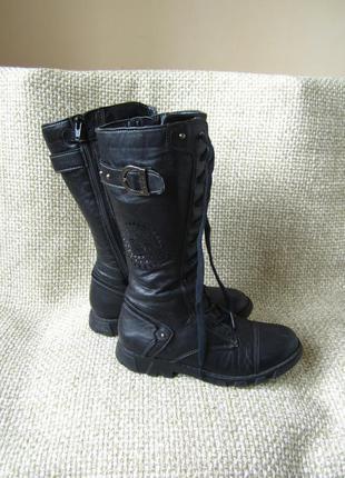 Geox р.37 чобітки високі шкіра